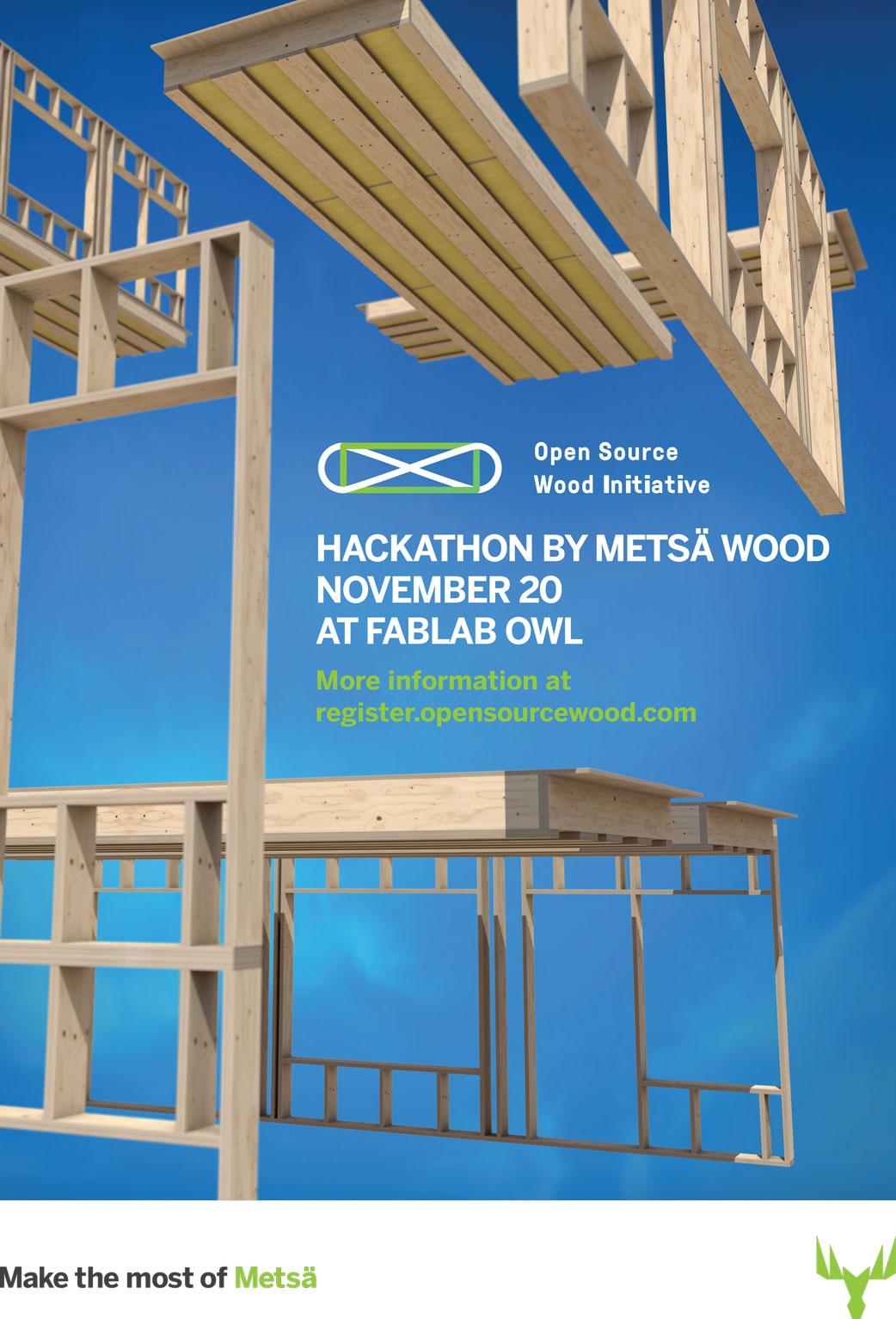 Open-Source-Wood-Hackathon-DE-poster